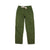 Front product shot of Topo Designs Women's Dirt Pants in Olive green.