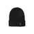 Front product shot of Topo Designs Work Cap beanie in Black.