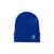 Front product shot of Topo Designs Work Cap beanie in Blue.