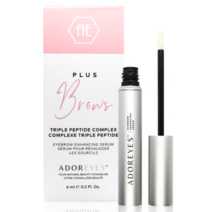 ADOREYES Plus Brows Eyebrow Enhancing Serum with Triple Peptide Complex (6 ml) - Made in Canada