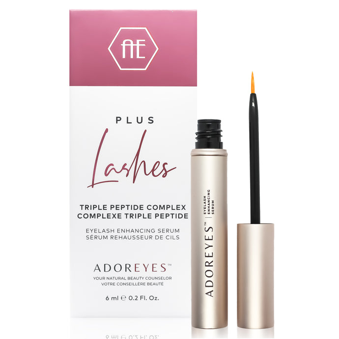 ADOREYES Plus Lashes Eyelash Enhancing Serum with Triple Peptide Complex (6 ml) - Made in Canada