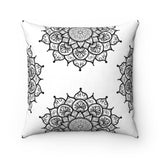 Mandala Faux Suede Square Pillow