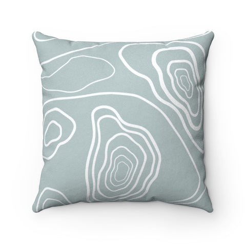 Grey Cozy Mood Suede Square Pillow