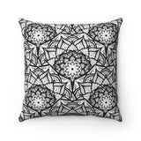 Mandala Spun Polyester Square Pillow