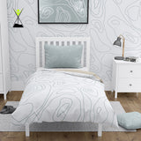 White n' Grey Cozy Mood Microfiber Duvet Cover