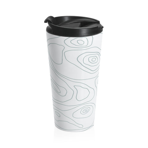 Grey Cozy Mood Stainless Steel Travel Mug