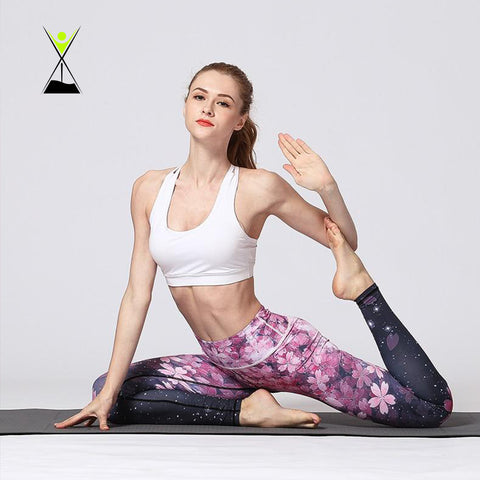 Women Fashion Printed Yoga & Workout Leggings