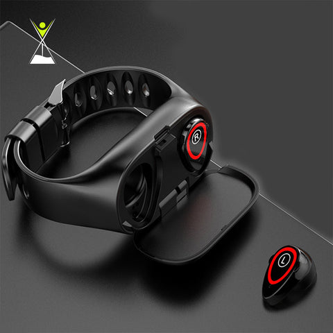 2-in-1 Smart Watch with Bluetooth 5.0 Headphones