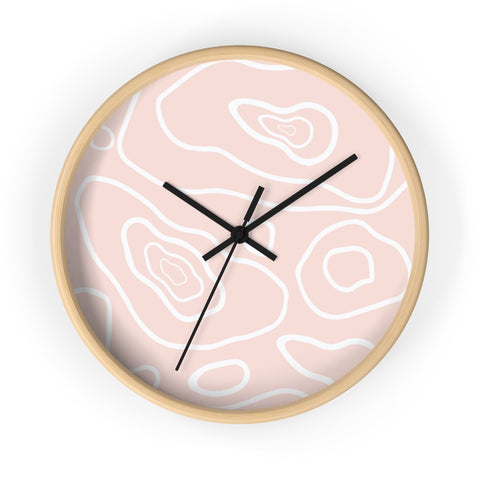 Pink Cozy Mood Wall clock