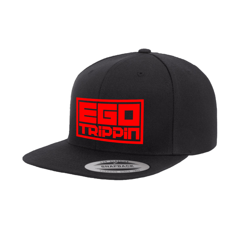 Ego Trippin Snapback (Black/Red)