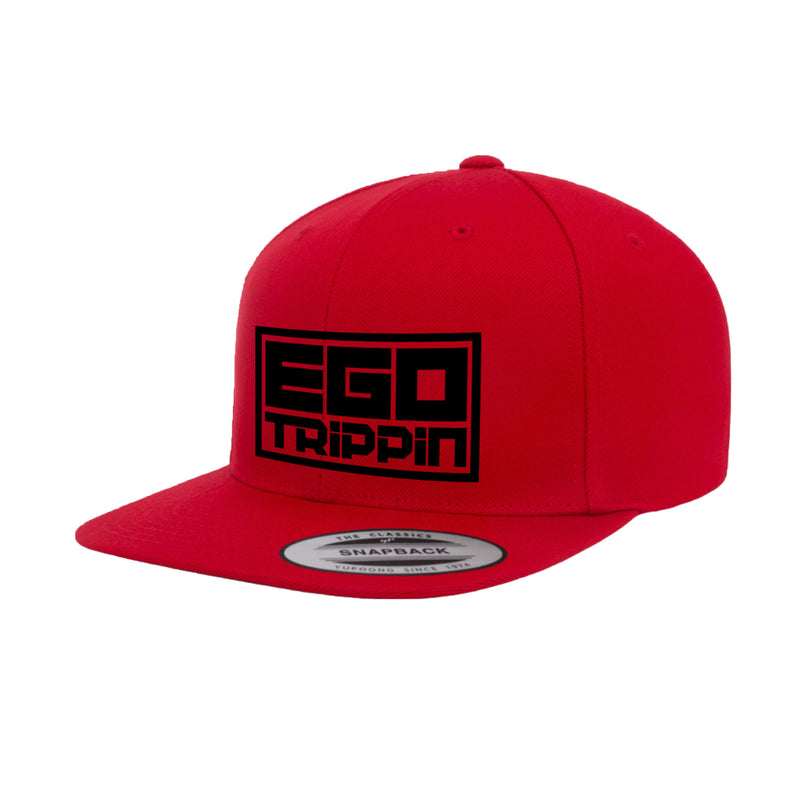 Ego Trippin Snapback (Red/Black)