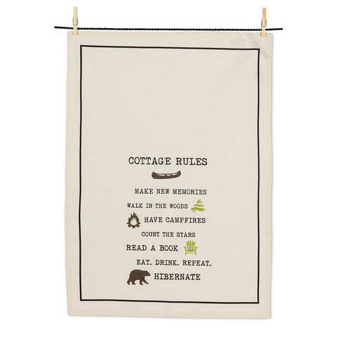 Abbott Cottage Rules Tea Towel