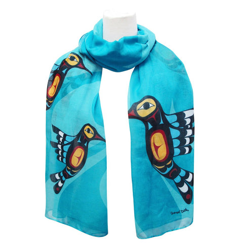 Hummingbird Artist Scarf By Oscardo Inc.