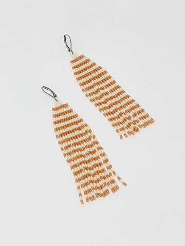 Cedar Striped Danglers - Three Sisters By Emma