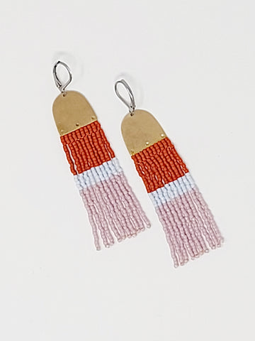 Colour Block Danglers - Three Sisters By Emma