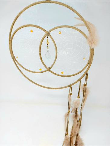 "Monague 12"" Tan Double Dreamcatcher"
