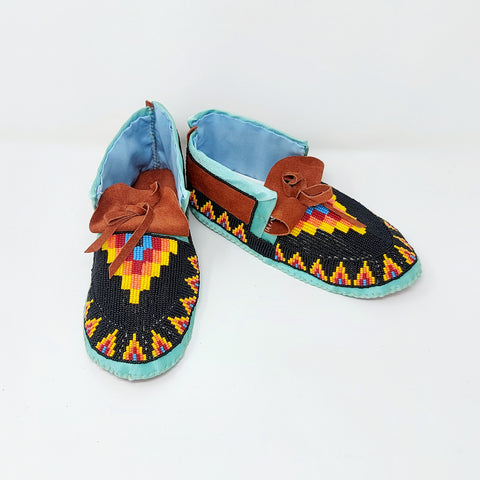 Fully Beaded Children's Moccasins