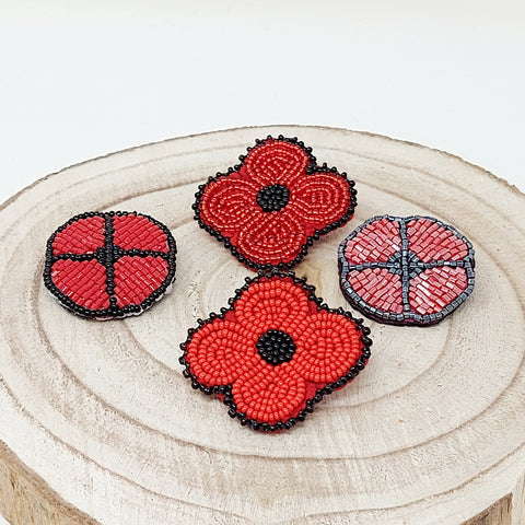 Handmade Beaded Poppies By Various Artist's