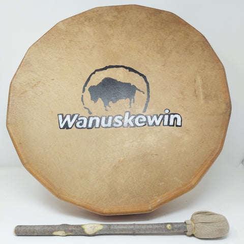 "Norman Ledoux Handmade Drum 18"" Buffalo (Consignment)"
