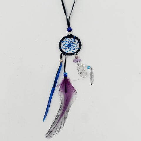 "Monague 1"" Black Dreamcatcher w/Crystal"