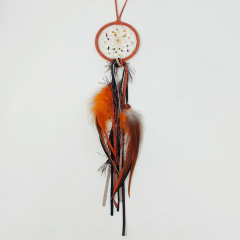 "Monague 2.5"" Orange Fall Dreamcatcher"
