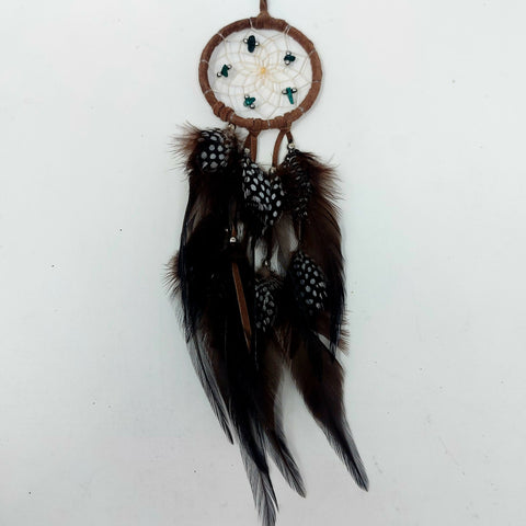 "2.5"" Brown Dreamcatcher with Semi-Precious Stones"