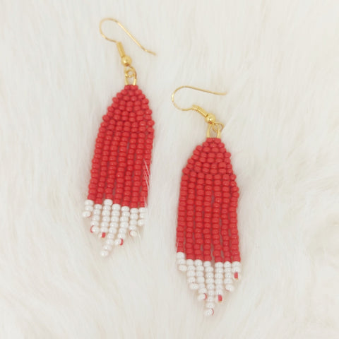 Second Love Beads Red Fringe