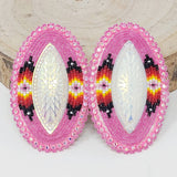 Large Beaded Earrings by Various Artists