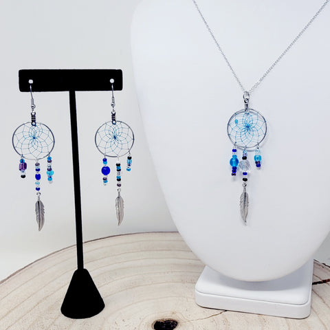 "Monague Magical 1"" Dreamcatcher Earrings & Pendant"