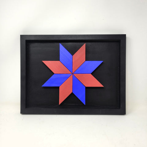 Darwin H Framed Wooden Star