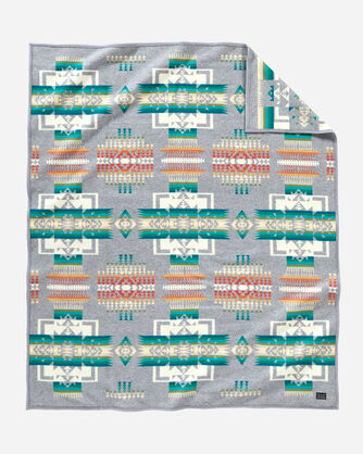 Chief Joseph Grey Jacquard Blanket Pendleton