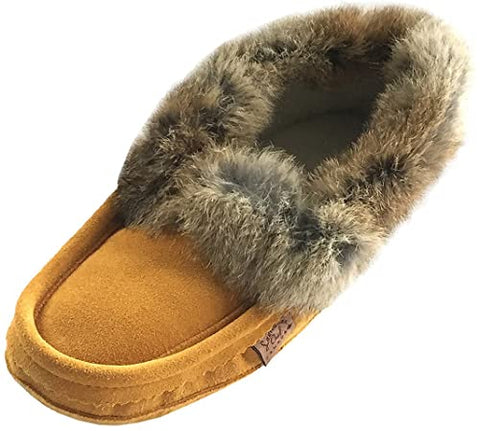 Laurentian Chief Men's Fur Trimmed Slipper