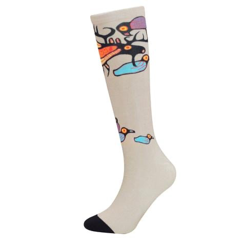 Moose Harmony Art Socks By Oscardo Inc.