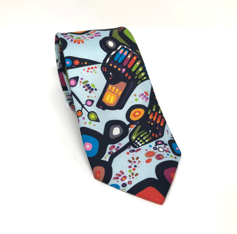 Bear Artist Design Silk Tie By Oscardo Inc.
