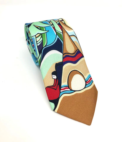 Some Watched The Sunset Artist Design Silk Tie By Oscardo Inc.