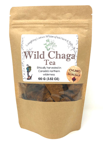 Wild Chaga Tea By Laughing Lichen Wildcrafted Herb & Tea