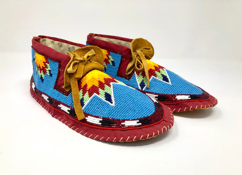 Hand Made Beaded Moccasins By Shirley Dreaver