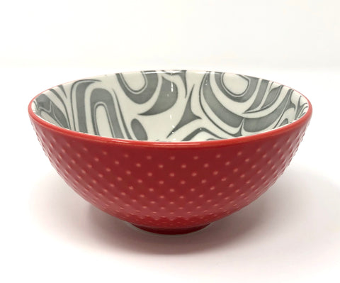 Small Porcelain Art Bowl By Native North West