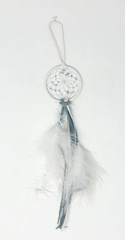 White Feather Dreamcatcher By Monague