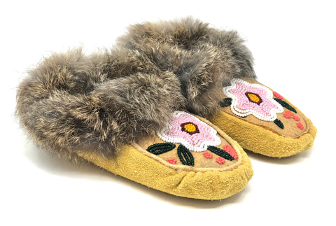 Hand Made Beaded Children's Moccasins By Rain Wind Crafts