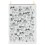 Abbott Simple Dog Face Tea Towel