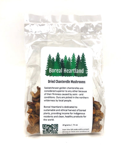 Dried Chanterelle Mushrooms By Boreal Heartland