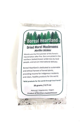 Dried Morel Mushrooms By Boreal Heartland