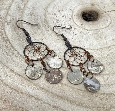 Monague Copper Earring w/ Disc