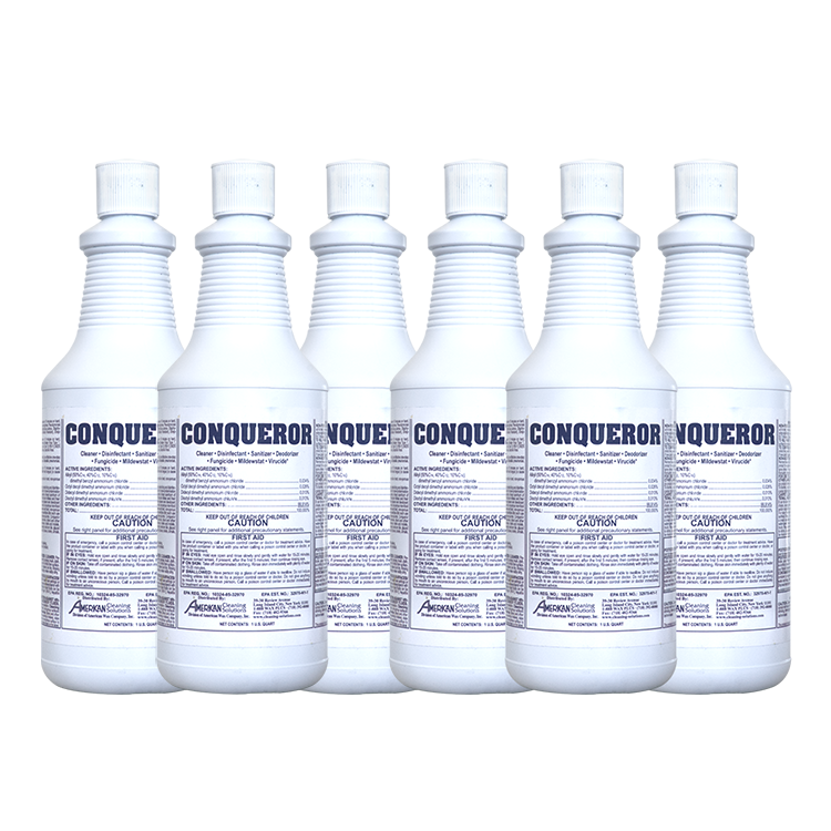 Conqueror - EPA Registered Disinfectant 32 oz Bottle - 6 Pack