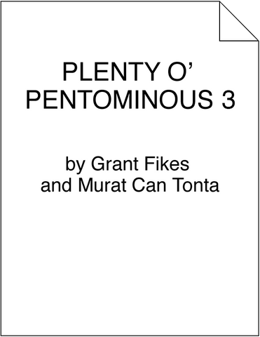 Plenty o' Pentominous 3
