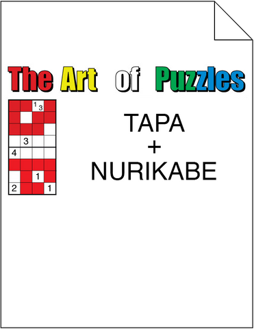 The Art of Puzzles: Tapa and Nurikabe