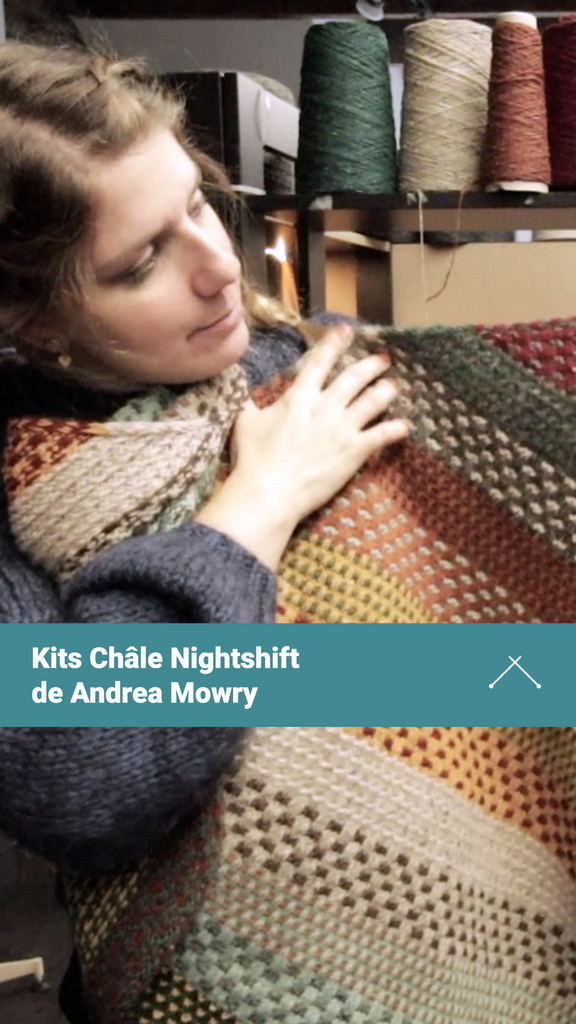 Kits #nightshiftshawl de @dreareneeknits