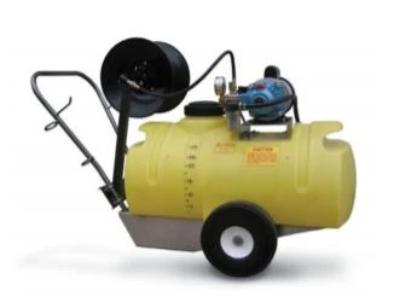 Opti-Dura 25 Gal Sprayer, 750 psi, 120V, 1 HP Elec. Motor, 100' Hose & Reel, 750 PSI, Quick Coupler