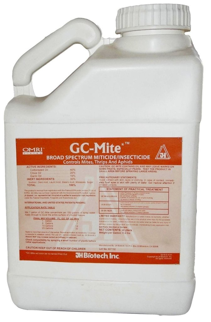 GC-Mite (Broad Spectrum Miticide/Insecticide) - 2.5 Gallon